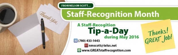 Staff Recognition tip in May