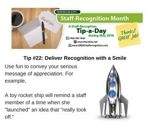 Staff Recognition May Tip 22 Deliver Recognition with a Smile (1)