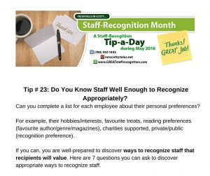 Staff Recognition May Tip 23 Do You Know Staff Well