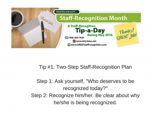 Staff Recognition May Tip#1 without webinar