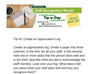 Staff Recognition May Tip#3 without webinar