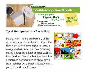 Staff Recognition May Tip#5 without webinar