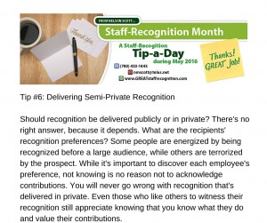 Staff Recognition May Tip#6 without webinar