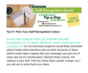 Staff Recognition May Tip#7 without webinar