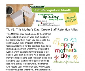 Staff Recognition May Tip#8 without webinar