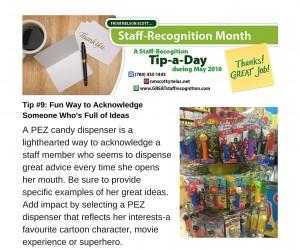 Staff Recognition May Tip#9 Fun Ways Pez