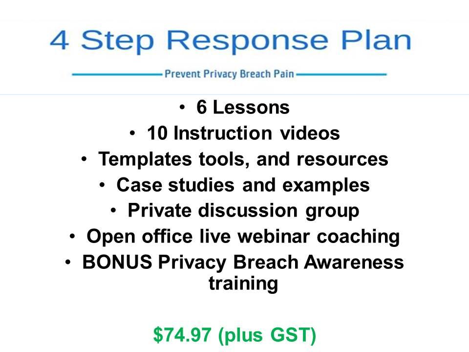 4 Step Response Plan Purchase