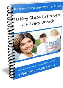 10 Key Steps to Prevent a Privacy Breach