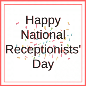 National Receptionist Day Poster