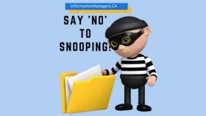 Say No to Snooping