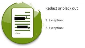 Redact patient record when preparing for a court order