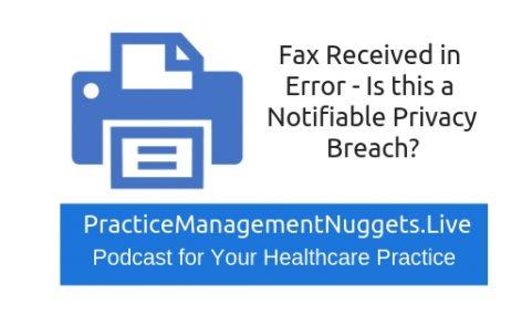 Fax in error privacy breach