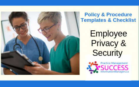 Employee Privacy and Security Policy and Procedure Checklist