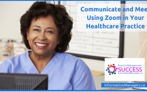 Communicate and Meet with Zoom Training in Healthcare Reception