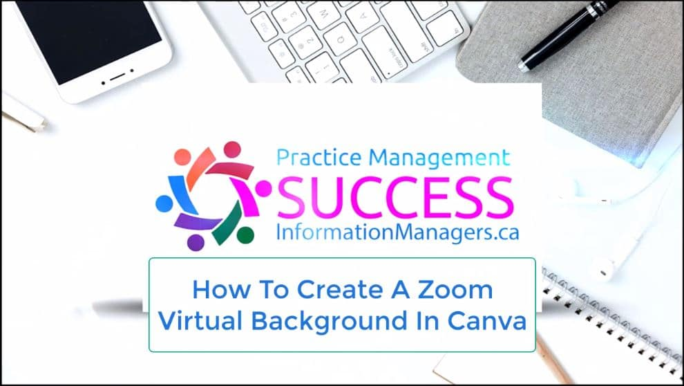 Communicate and Meet with Zoom Training in Healthcare Virtual Background