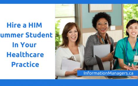 Health Information Management Summer Student