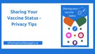 Sharing your vaccine status
